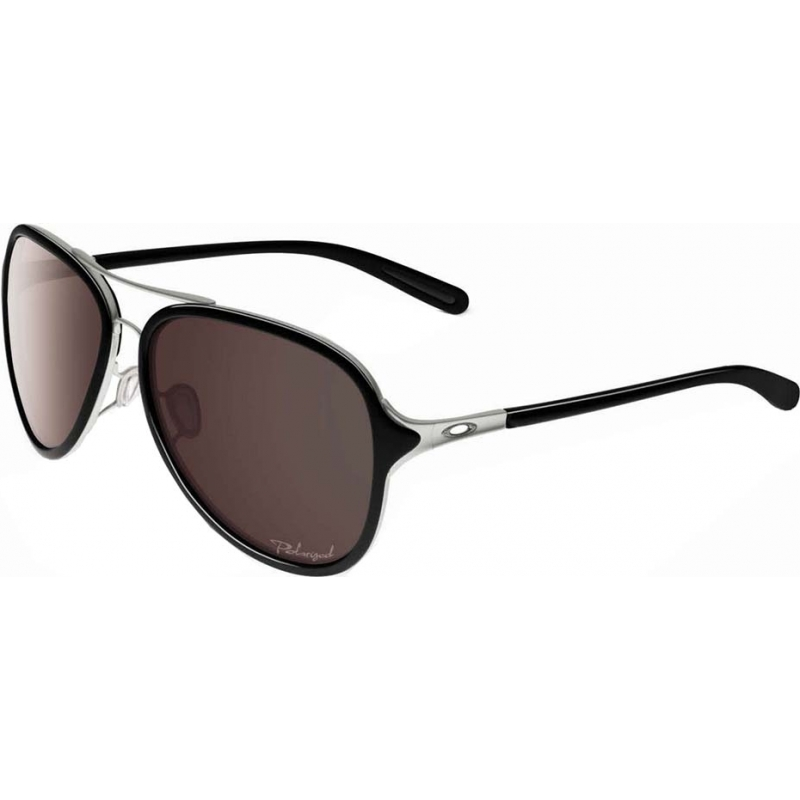 ladies oakley sunglasses hg5b  Oakley OO4102-04 OO4102-04 Kickback Satin Chrome Black