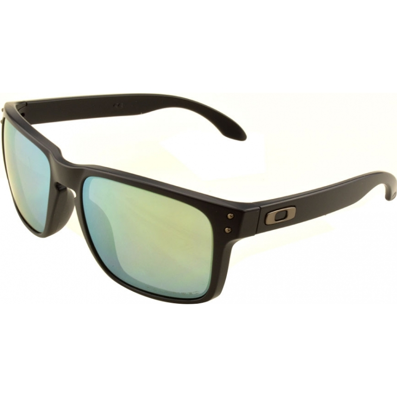 9c4c6e52110 Oakley OO9102-50 Holbrook Matte Black - Emerald Iridium Polarized Sunglasses