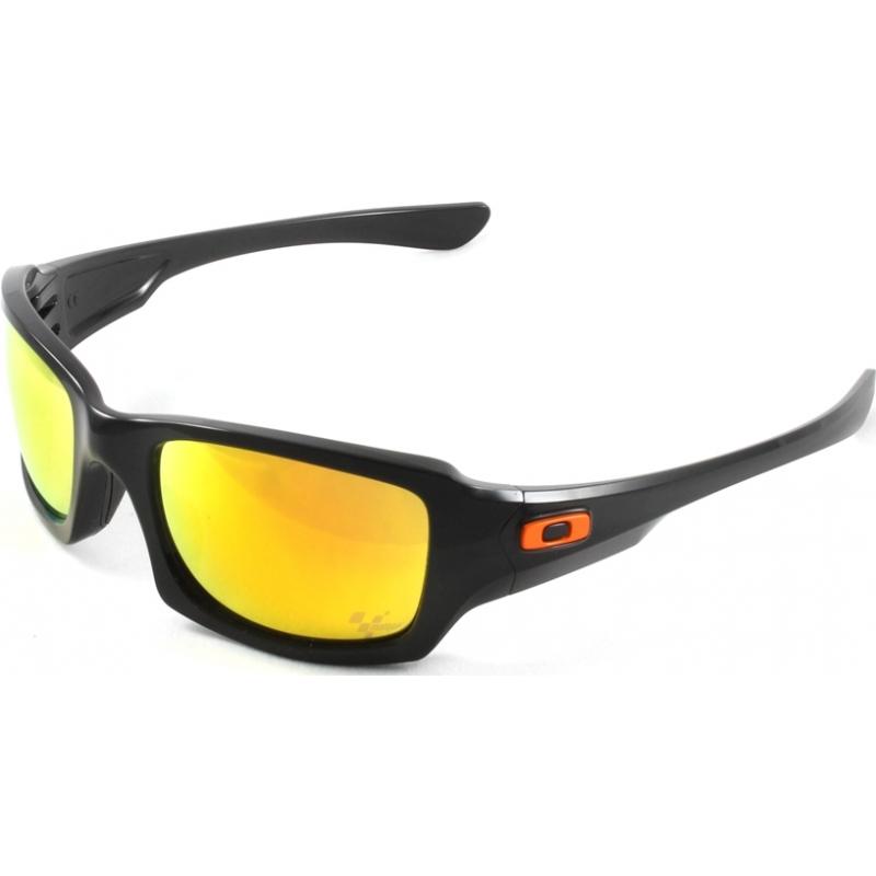 fdedcdf91f Oakley OO9238-01 Fives Squared MotoGP Polished Black - Fire Iridium  Sunglasses