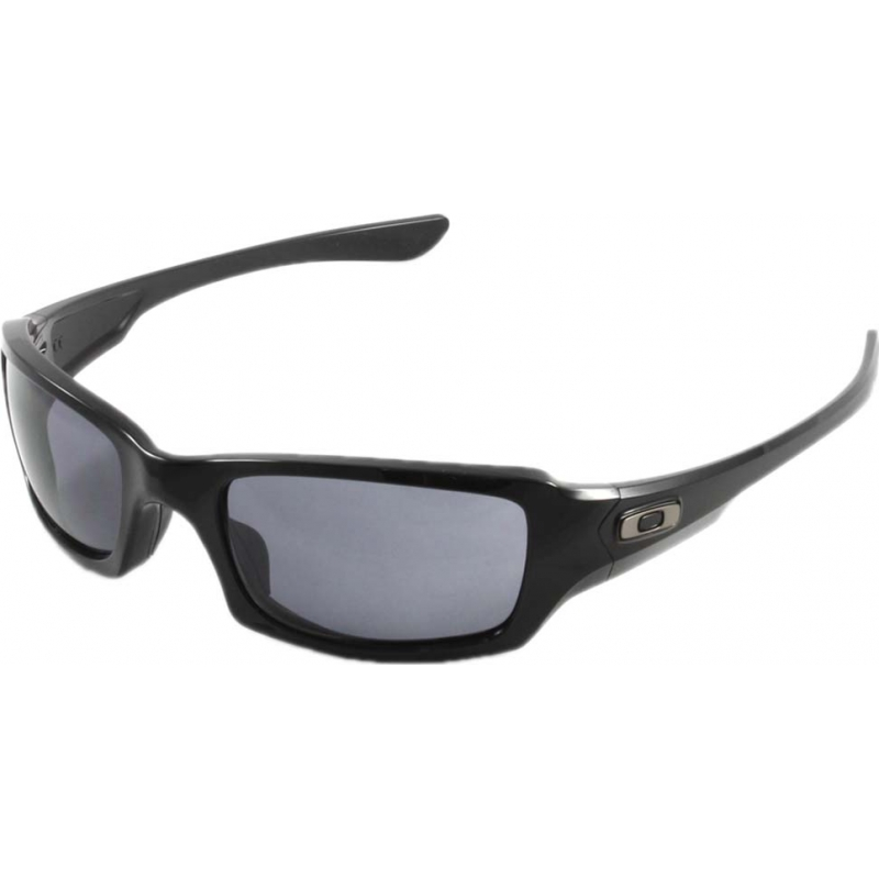 75bf47cc5e Oakley OO9238-04 Fives Squared Polished Black - Grey Sunglasses