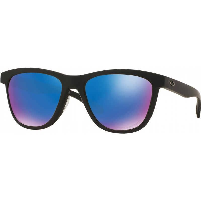 aec46ac7dd Oakley OO9320-11 Moonlighter Matte Black - Sapphire Iridium Polarized  Sunglasses