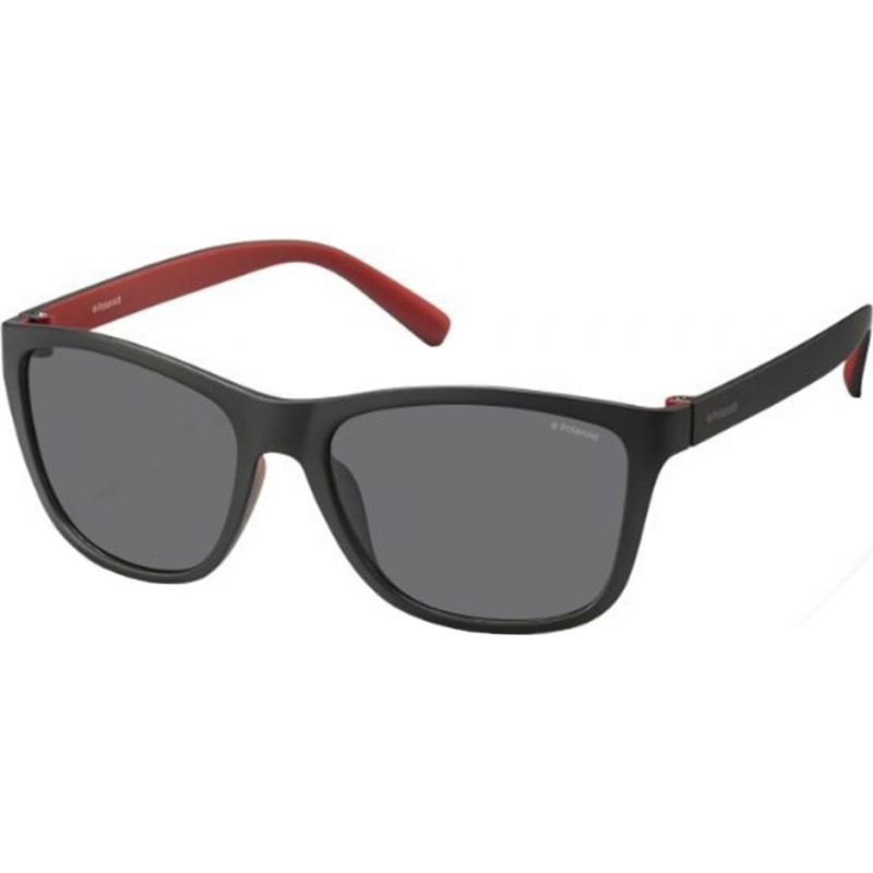 3218b82eaaa Polaroid Mens PLD3011-S LLQ Y2 Black Red Polarized Sunglasses