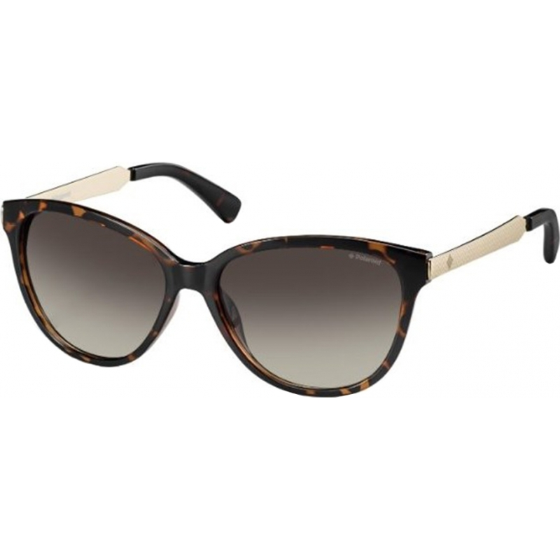 Polaroid PLD5016-S-LLY-94-58 Ladies PLD5016-S LLY 94 Havana Gold Polarized Sunglasses