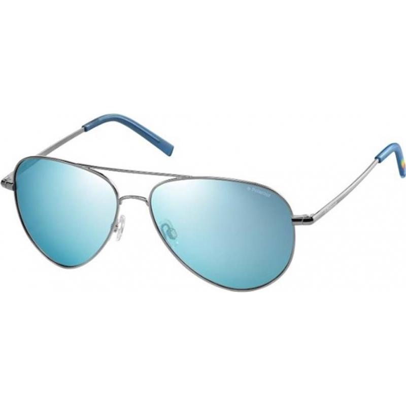 9828104c5c0 Polaroid PLD6012-N 6LB JY Ruthenium Blue Mirror Polarized Sunglasses