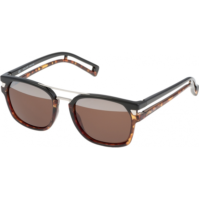 dc1ab40b36 Police Mens Neymar JR 1 S1948-N33H Dark Havana Black Sunglasses