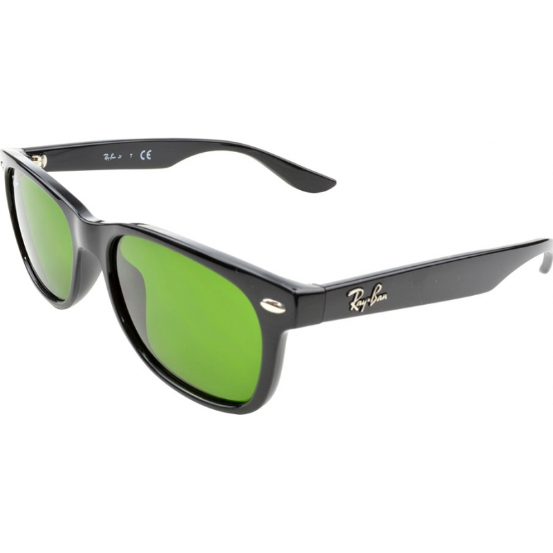 a2445b307cd4 RayBan Junior RJ9052S 47 New Wayfarer Shiny Black 100-2 Sunglasses
