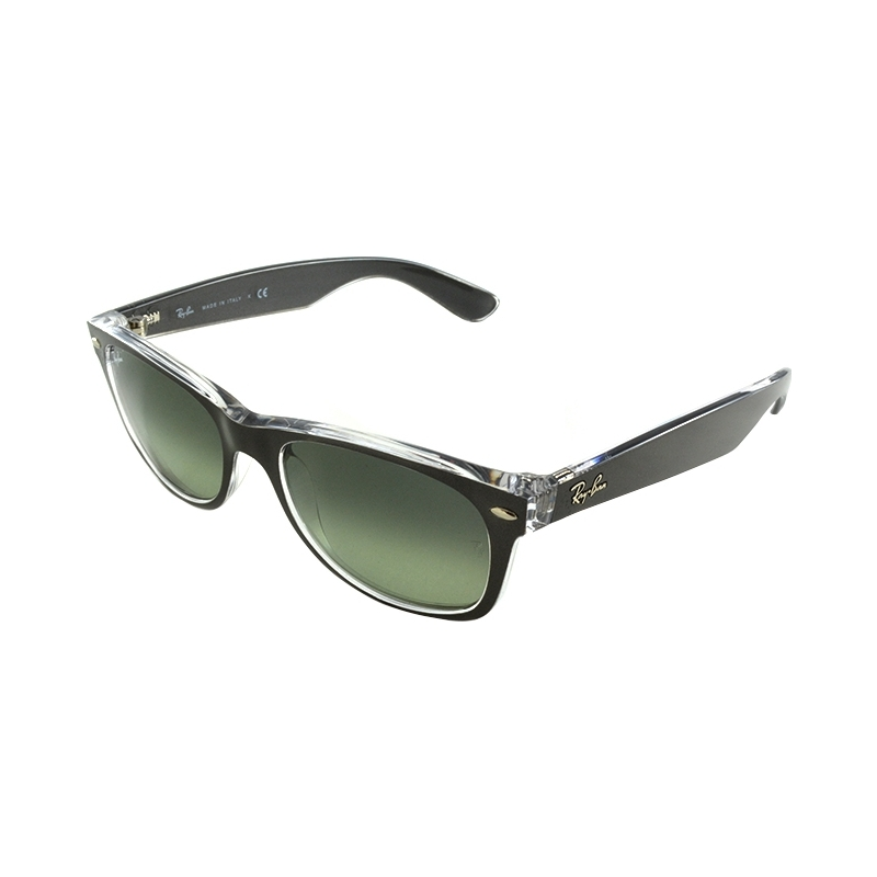 RayBan RB2132-52-6143-71 RB2132-52 New Wayfarer Top Brushed Gunmetal On Transparent 6143-71 Sunglasses