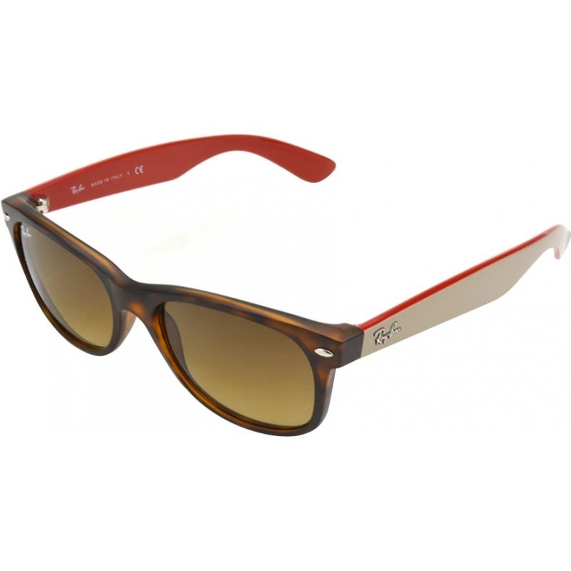 RayBan RB2132-52-618185 RB2132 52 New Wayfarer Matte Tortoiseshell 618185 Sunglasses