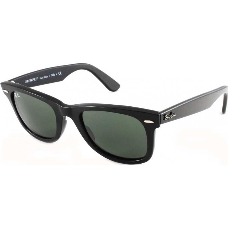 3ca0da5e254 RayBan RB2140 47 Original Wayfarer Black Green 901-58 Polarized Sunglasses