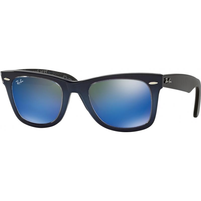 RayBan RB2140-50-120368 RB2140 50 Original Wayfarer Top Blue Gradient on Light Blue 120368 Blue Mirror Sunglasses