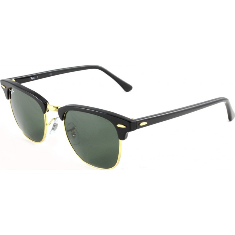 cb61425268 RayBan RB3016 49 Clubmaster Black W0365 Sunglasses