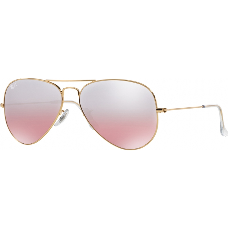 RayBan RB3025-58-001-3E Rb3025 58 vlieger grote metalen goud 001-3e mirrored zonnebril