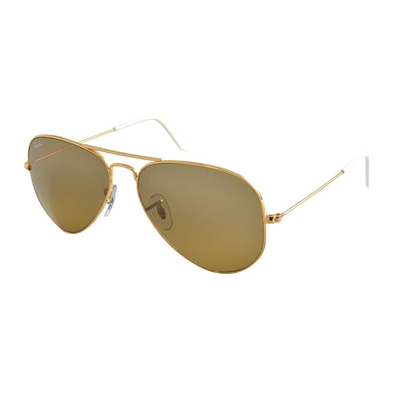 RayBan RB3025-58-001-3K RB3025 58 Aviator Large Metal Arista Brown 001-3K Mirrored Sunglasses