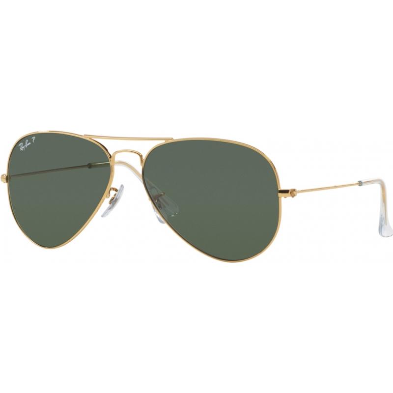 RayBan RB3025-58-001-58 RB3025 58 aviator grand métal or 001-58 lunettes de soleil polarisées