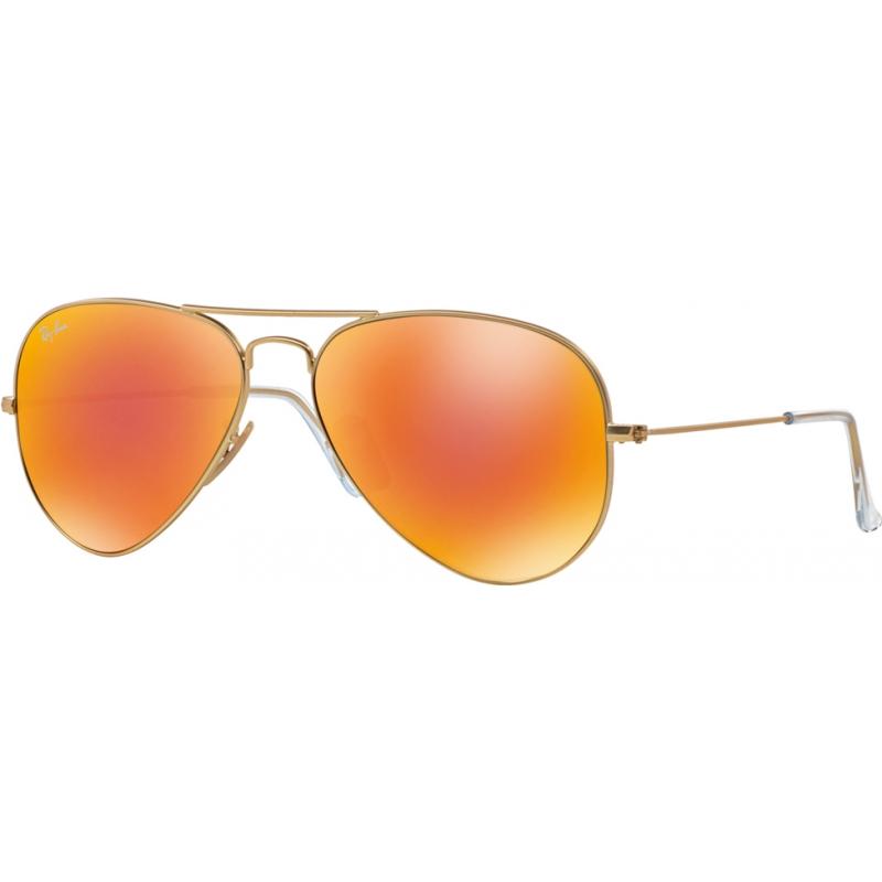 RayBan RB3025-58-112-69 RB3025 58 Flieger große Metallmattgold 112-69 gespiegelte Sonnenbrille