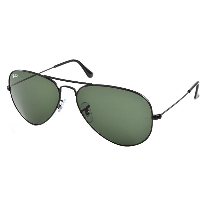 RayBan RB3025-58-L2823 RB3025 58 Aviator Large Metal Black L2823 Sunglasses