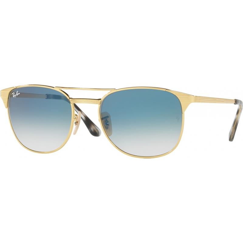 RayBan RB3429M-55-001-3F RB3429M 55 Icons Gold Blue 001-3F Sunglasses