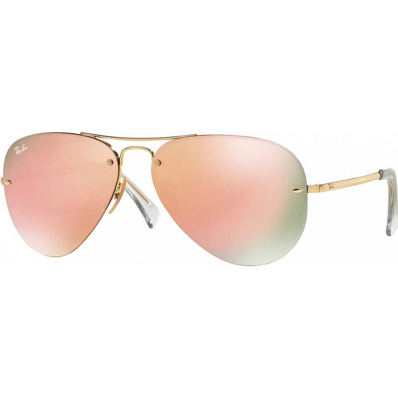 RayBan RB3449-59-001-2Y RB3449 59 Highstreet Gold 001-2Y Copper Mirror Sunglasses