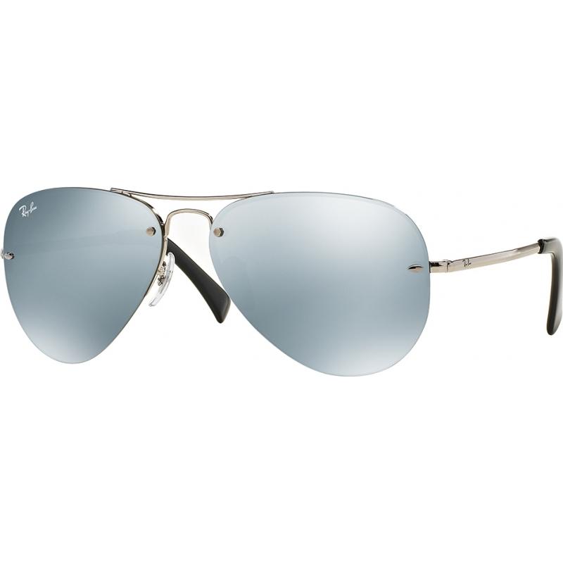 RayBan RB3449-59-003-30 RB3449 59 Highstreet Silver 003-30 Mirror Sunglasses
