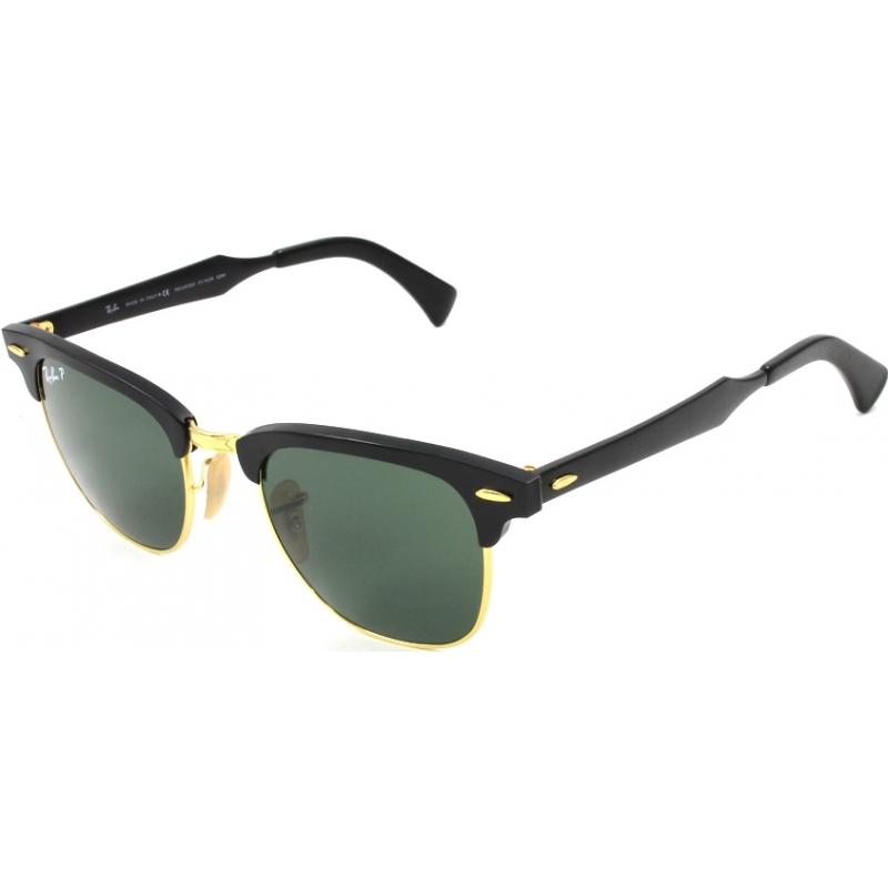717e806b92a7a RayBan RB3507 49 Clubmaster Aluminum Black Arista 136-N5 Polarized  Sunglasses