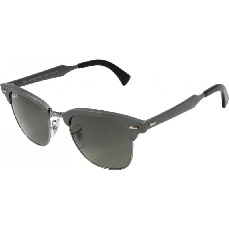 d8e941a35dd RayBan RB3507 51 Clubmaster Aluminum Brushed Gunmetal 138-M8 Polarized  Sunglasses