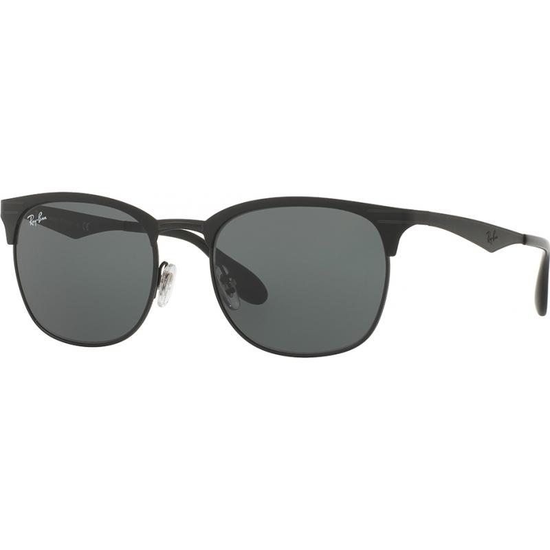 RayBan RB3538-53-186-71 RB3538 53 Highstreet Top Matte Black On Shiny Black 186-71 Sunglasses