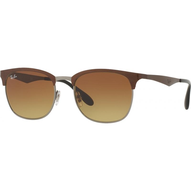 RayBan RB3538-53-188-13 RB3538 53 Highstreet Top Brown on Gunmetal 188-13 Sunglasses