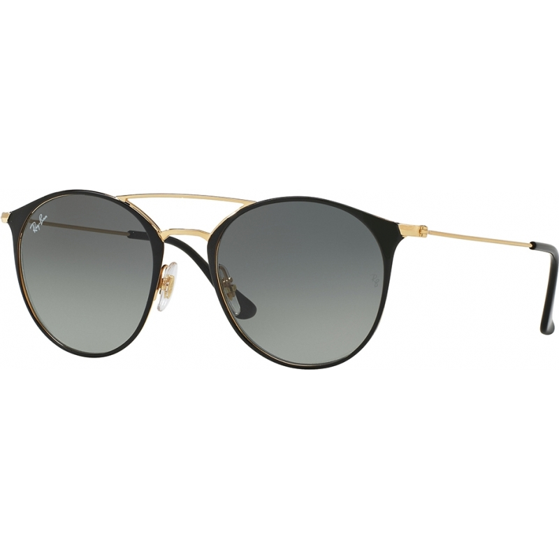 RayBan RB3546-49-187-71 RB3546 49 Highstreet Gold Top Black 187-71 Sunglasses