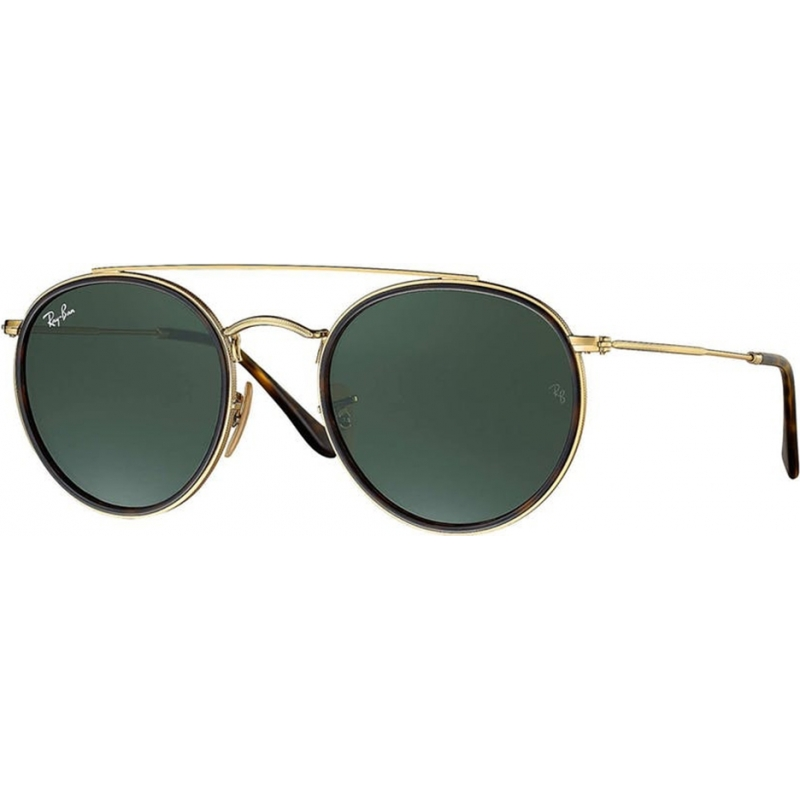 0524c7170a8 RayBan RB3647N 51 001 Round Double Bridge Sunglasses