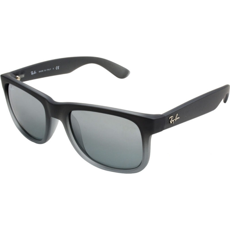 0675df7e9c RayBan RB4165 51 Justin Rubber Grey 852-88 Sunglasses