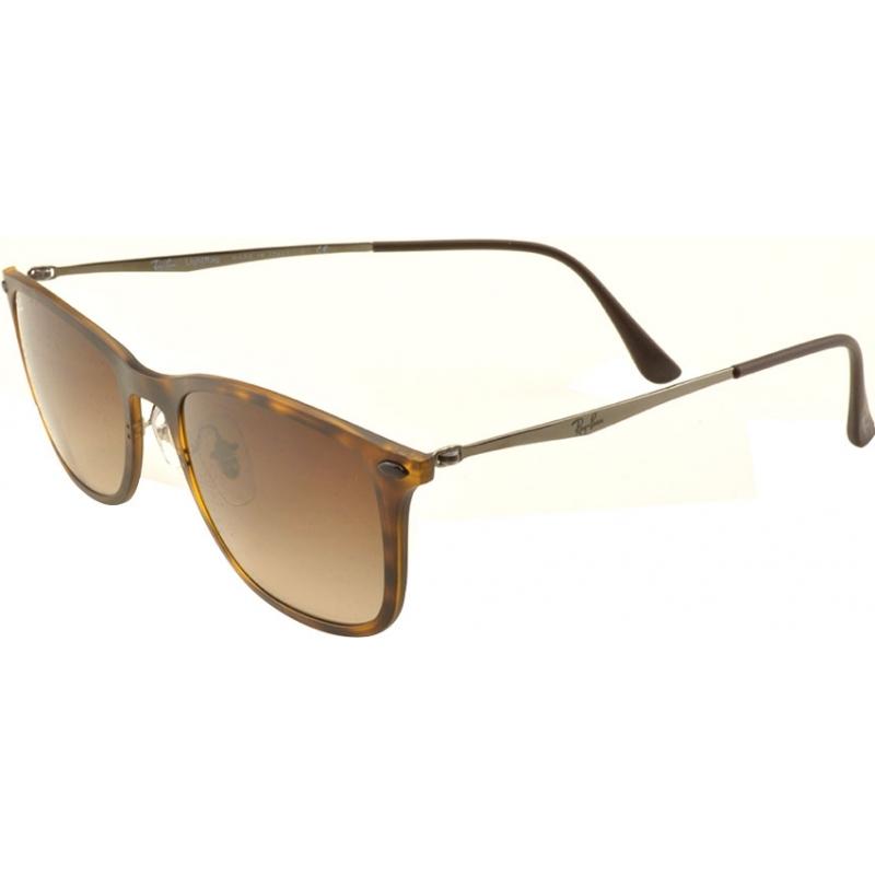 db0c0d8e0e5 RayBan RB4225 52 New Wayfarer Light Ray Matte Havana 894-13 Sunglasses