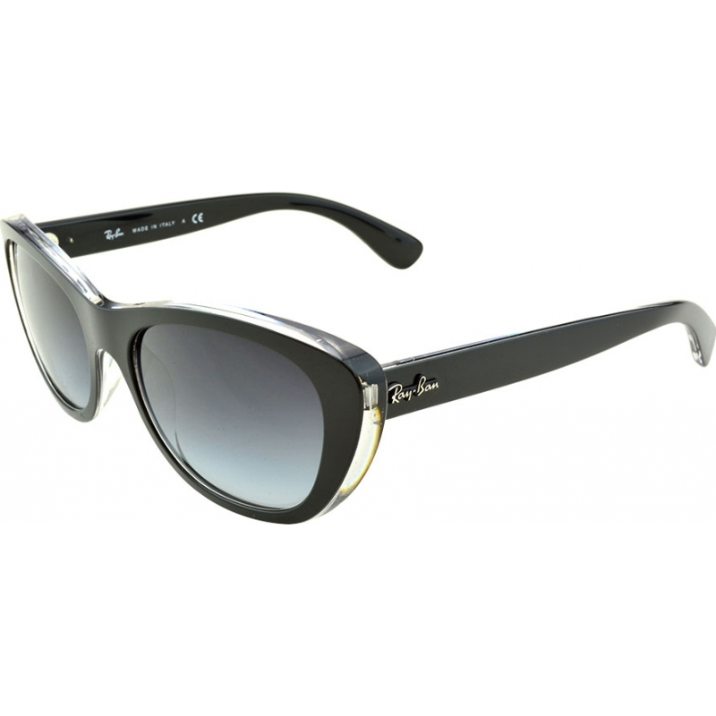 58d656671e6a8 RayBan RB4227 55 Highstreet Top Matt Black on Transparent 60528G Gradient  Sunglasses