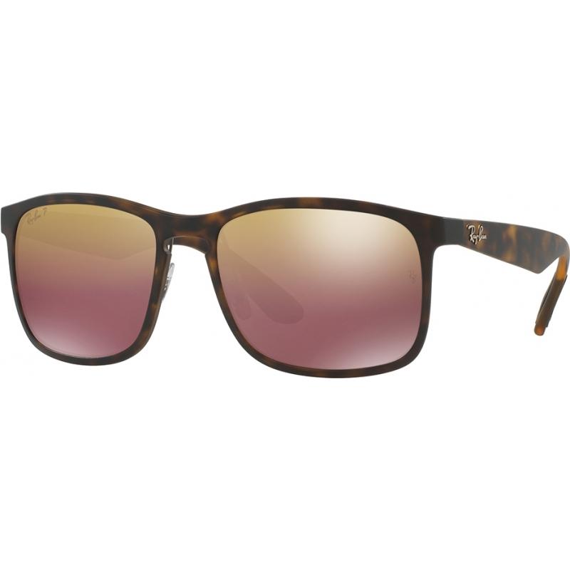 5c0fef330ff RayBan RB4264 58 Tech Chromance Matte Havana 894-6B Brown Mirror Polarized  Sunglasses