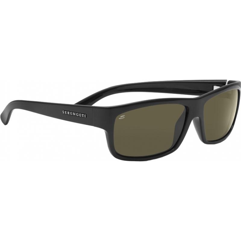 Serengeti 7492 Martino glänzend schwarz polarisierten Sonnenbrillen 555nm