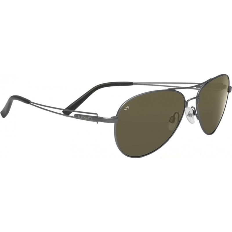 Serengeti 7541 Brando gunmetal óculos polarizados 555nm