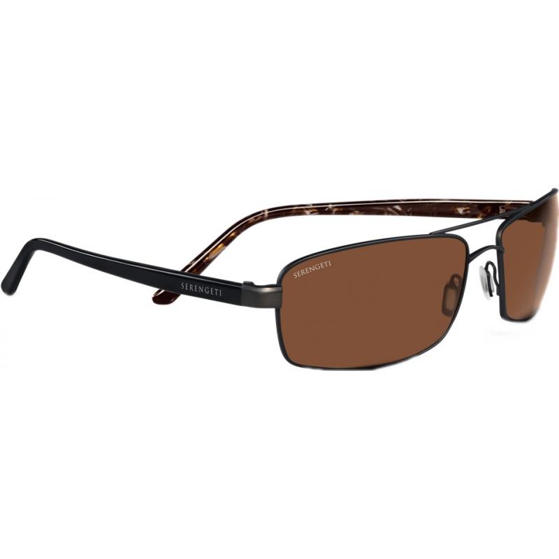 Serengeti 7609 San remo marron en satin polarisé pilotes des lunettes de soleil
