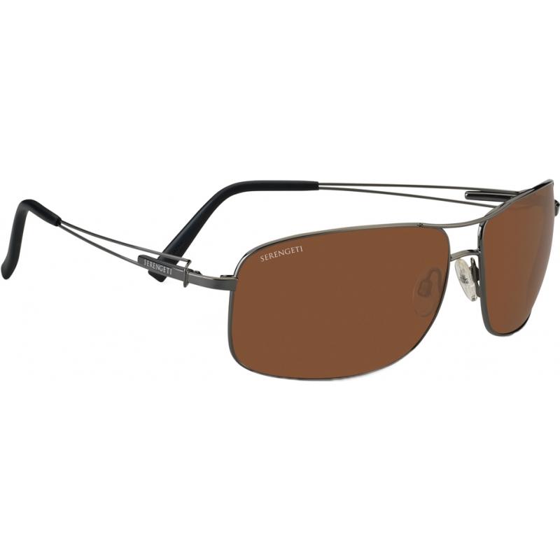 Serengeti 7665 Sassari Shiny Gunmetal Polarized Drivers Sunglasses