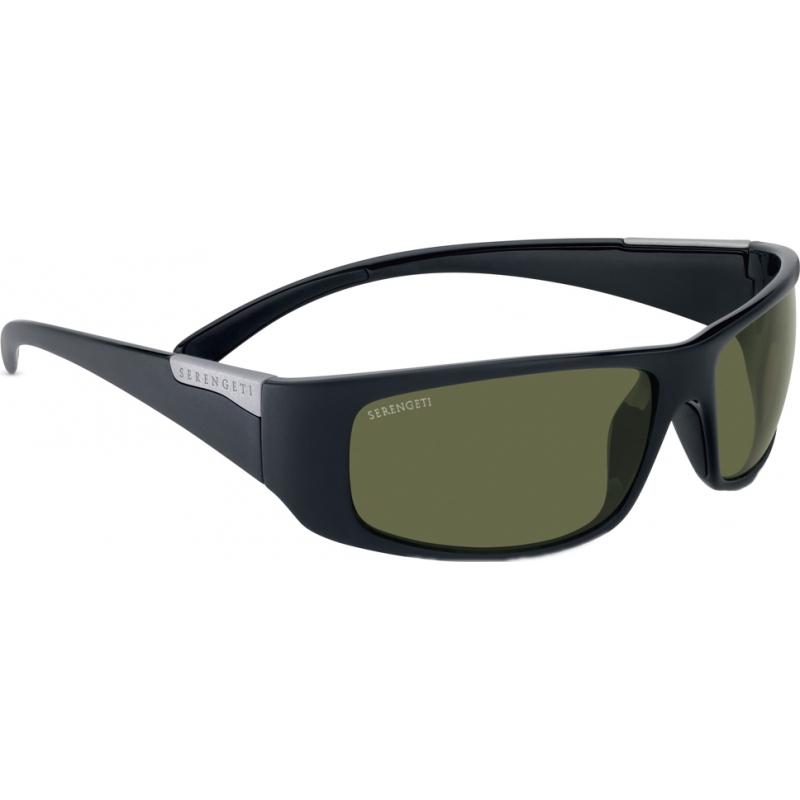 Serengeti 7750 Fasano glänzendem Satin schwarz polarisierten phd 555nm Sonnenbrille