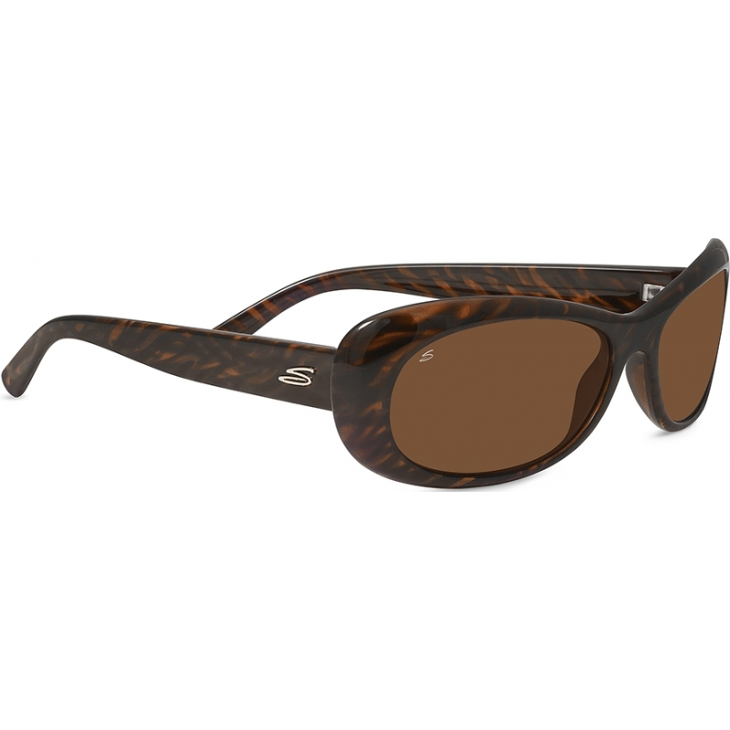Serengeti Eyewear Sonnenbrille Bella, Dark Brown Stripe Tortoise, M, 7910