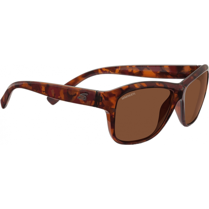 Serengeti 7947 Gabriella Shiny Red Tortoiseshell Polarized Drivers Sunglasses