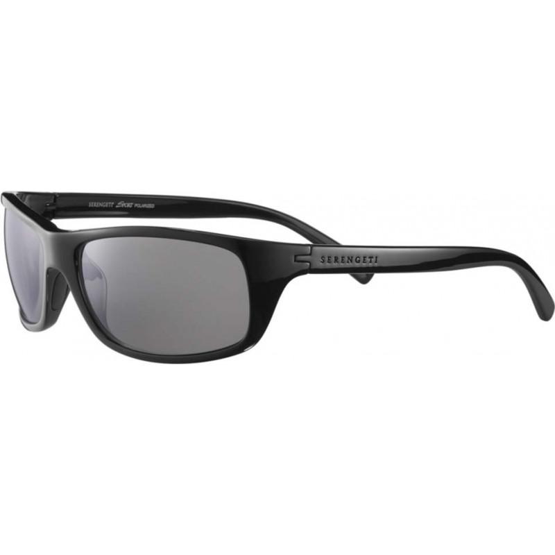 Serengeti 8168 Bormio Shiny Black Polarized PhD CPG Sunglasses