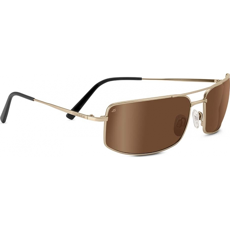 Serengeti 8306 Treviso Satin Soft Gold Polarized Drivers Gold Sunglasses