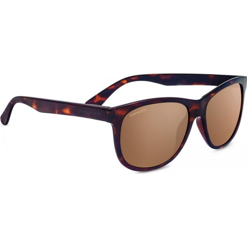 Serengeti 8361 Ostuni Shiny Dark Tortoiseshell Polarized Drivers Gold Mirror Sunglasses
