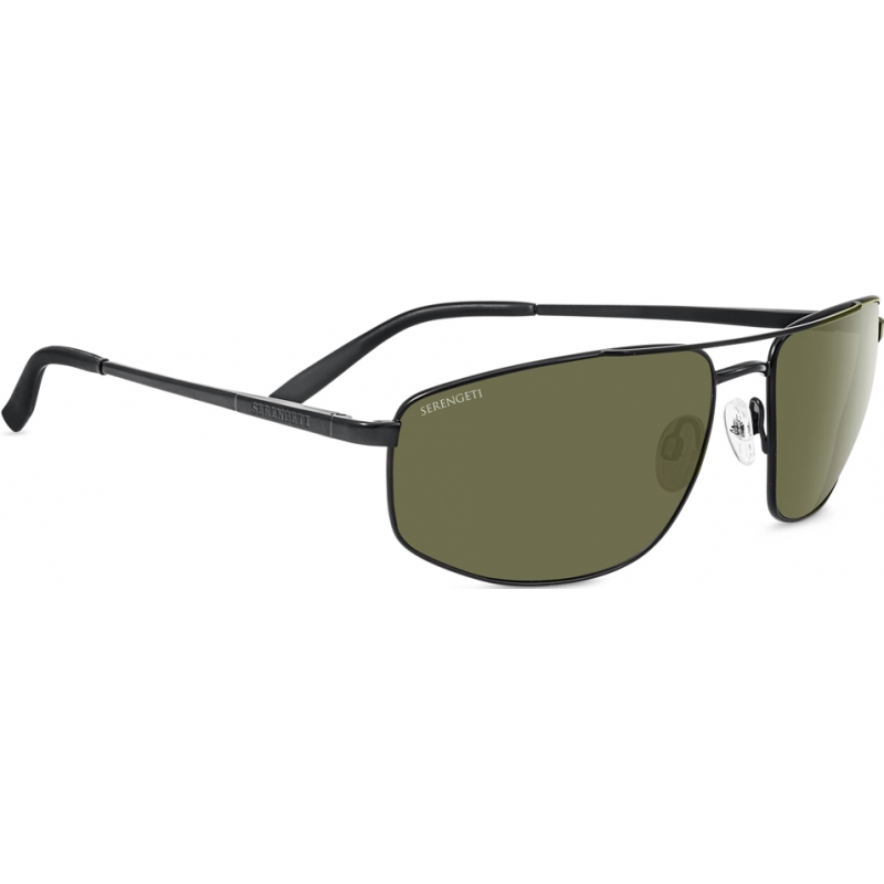 Serengeti 8407 Modugno Satin Black Polarized 555nm Sunglasses