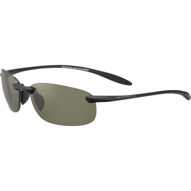 Serengeti 8446 Nuvola Satin Black Polarized PhD 555nm Sunglasses