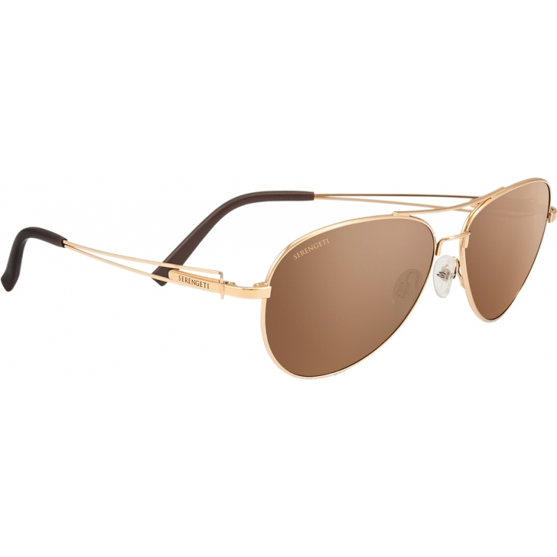 Serengeti 8456 8456 Brando Gold Sunglasses