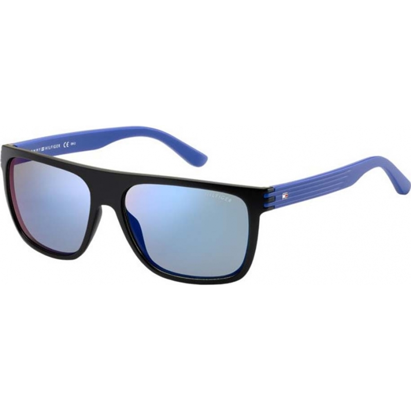 e418767b2bf Tommy Hilfiger 247509FB15723 Mens TH 1277-S FB1 23 Black Blue Sunglasses