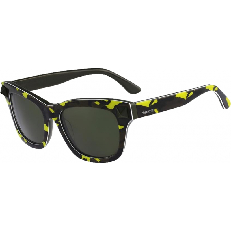 Valentino V670SC-741 Ladies V670SS Fluo Yellow Army Green Sunglasses